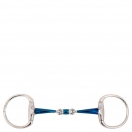 BR suuline Double Jointed Eggbutt Snaffle Sweet Iron 14 mm